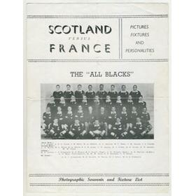 SCOTLAND V FRANCE 1954 PIRATE RUGBY PROGRAMME