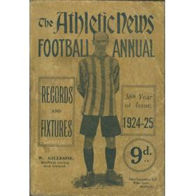 ATHLETIC NEWS FOOTBALL ANNUAL 1924-25