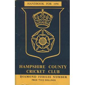 HAMPSHIRE COUNTY CRICKET CLUB ILLUSTRATED HANDBOOK 1956: DIAMOND JUBILEE NUMBER