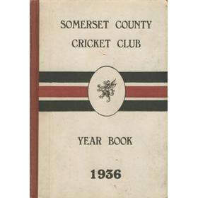 SOMERSET COUNTY CRICKET CLUB YEARBOOK 1936