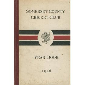 SOMERSET COUNTY CRICKET CLUB YEARBOOK 1926