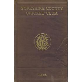 YORKSHIRE COUNTY CRICKET CLUB 1900 [ANNUAL]