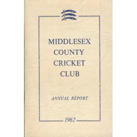 MIDDLESEX COUNTY CRICKET CLUB ANNUAL REPORT 1962