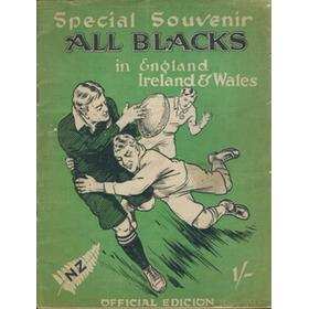 THE ALL BLACKS IN ENGLAND. SPECIAL OFFICIAL SOUVENIR. ENGLISH EDITION