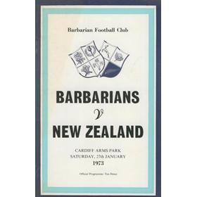 BARBARIANS V NEW ZEALAND 1973 (THE FAMOUS MATCH)