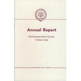 NORTHAMPTONSHIRE COUNTY CRICKET CLUB 1968 ANNUAL REPORT