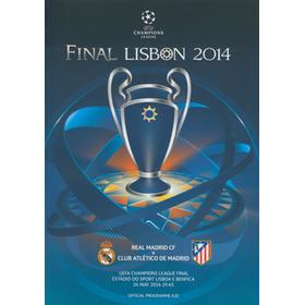 REAL MADRID V ATLETICO MADRID 2014 (CHAMPIONS LEAGUE FINAL) FOOTBALL PROGRAMME