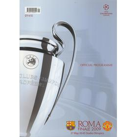 BARCELONA V MANCHESTER UNITED 2009 (CHAMPIONS LEAGUE FINAL) FOOTBALL PROGRAMME