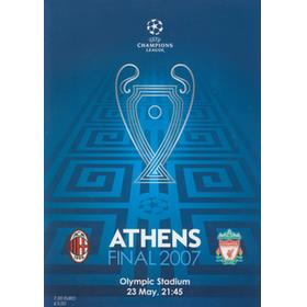 AC MILAN V LIVERPOOL 2007 (CHAMPIONS LEAGUE FINAL) FOOTBALL PROGRAMME