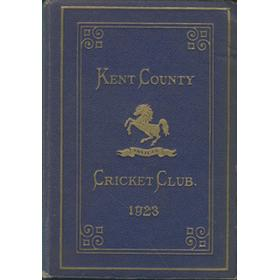 KENT COUNTY CRICKET CLUB 1923 [BLUE BOOK]