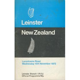 LEINSTER V NEW ZEALAND 1972 RUGBY PROGRAMME
