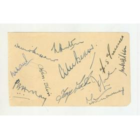 ENGLAND 1952 CRICKET AUTOGRAPHS (V INDIA AT THE OVAL)