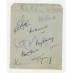 KENT & DEVON 1951 CRICKET AUTOGRAPHS