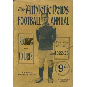 ATHLETIC NEWS FOOTBALL ANNUAL 1922-23
