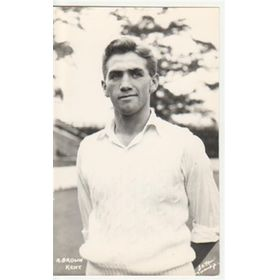 ALAN BROWN (KENT & ENGLAND) CRICKET POSTCARD