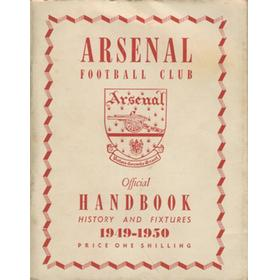 ARSENAL FOOTBALL CLUB 1949-50 OFFICIAL HANDBOOK