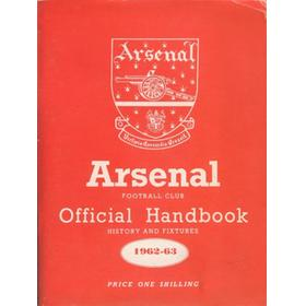 ARSENAL FOOTBALL CLUB 1962-63 OFFICIAL HANDBOOK