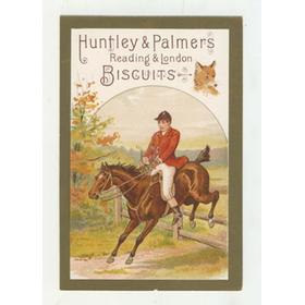 HUNTLEY AND PALMERS BISCUITS TRADE CARD C. 1880 - HUNTING