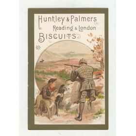 HUNTLEY AND PALMERS BISCUITS TRADE CARD C. 1880 - SHOOTING