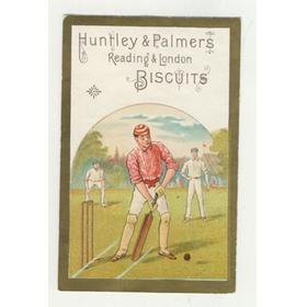 HUNTLEY AND PALMERS BISCUITS TRADE CARD C. 1880 - CRICKET