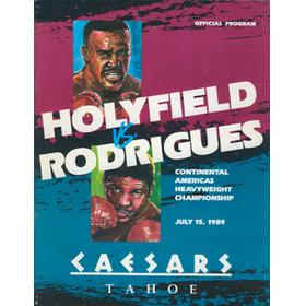EVANDER HOLYFIELD V ADILSON RODRIGUES 1989 BOXING PROGRAMME