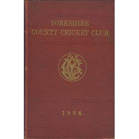 YORKSHIRE COUNTY CRICKET CLUB 1894 [ANNUAL]