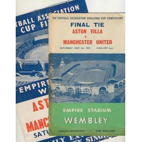 ASTON VILLA V MANCHESTER UNITED 1957 (F.A. CUP FINAL) FOOTBALL PROGRAMME AND SINGING SHEET