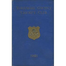 YORKSHIRE COUNTY CRICKET CLUB 1921 [ANNUAL]