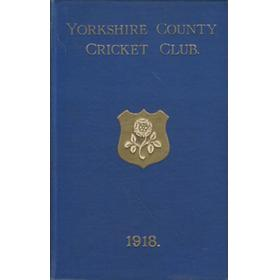 YORKSHIRE COUNTY CRICKET CLUB 1918 [ANNUAL]