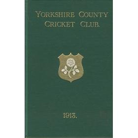 YORKSHIRE COUNTY CRICKET CLUB 1913 [ANNUAL]
