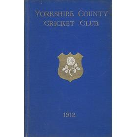 YORKSHIRE COUNTY CRICKET CLUB 1912 [ANNUAL]