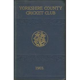 YORKSHIRE COUNTY CRICKET CLUB 1903 [ANNUAL}