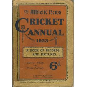ATHLETIC NEWS CRICKET ANNUAL 1923
