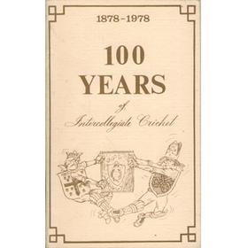 1878-1978 - 100 YEARS OF INTERCOLLEGIATE CRICKET