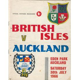 AUCKLAND V BRITISH ISLES 1966 RUGBY PROGRAMME