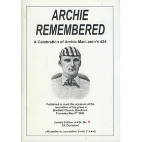 ARCHIE REMEMBERED - A CELEBRATION OF ARCHIE MACLAREN