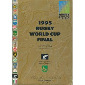 SOUTH AFRICA V NEW ZEALAND 1995 RUGBY WORLD CUP FINAL PROGRAMME