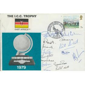 EAST AFRICA CRICKET TEAM 1979 (I.C.C. TROPHY) SIGNED FIRST DAY COVER