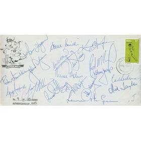 AUSTRALIA (TOUR TO SOUTH AFRICA) 1986-87 SIGNED FIRST DAY COVER