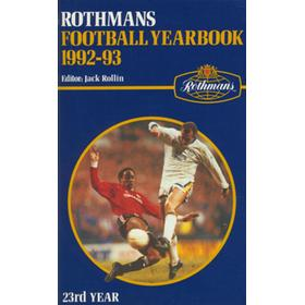 ROTHMANS FOOTBALL YEARBOOK 1992-93
