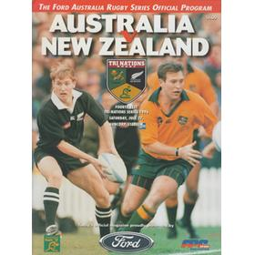 AUSTRALIA V NEW ZEALAND (4TH TEST) 1997 RUGBY PROGRAMME