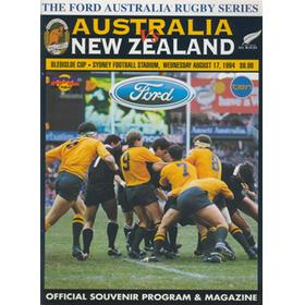 AUSTRALIA V NEW ZEALAND 1994 RUGBY PROGRAMME