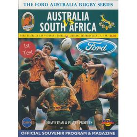 AUSTRALIA V SOUTH AFRICA (1ST TEST) 1993 RUGBY PROGRAMME