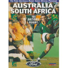 AUSTRALIA V SOUTH AFRICA (2ND TEST) 1996 RUGBY PROGRAMME