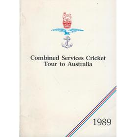COMBINED SERVICES CRICKET TOUR TO AUSTRALIA 1989 BROCHURE