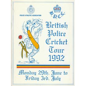 BRITISH POLICE CRICKET TOUR 1992 BROCHURE