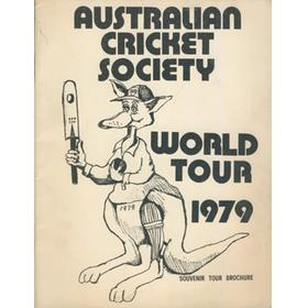 AUSTRALIAN CRICKET SOCIETY WORLD TOUR 1979 BROCHURE