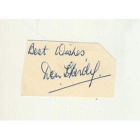 DON HARDY (DURHAM) CRICKET AUTOGRAPH