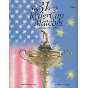 RYDER CUP 1995 (OAK HILL COUNTRY CLUB) OFFICIAL PROGRAMME
