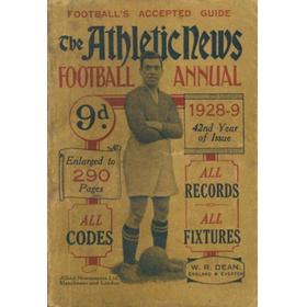 ATHLETIC NEWS FOOTBALL ANNUAL 1928-29